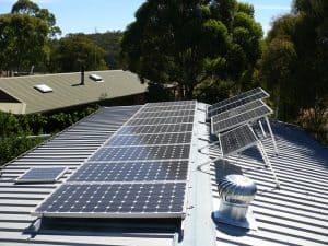 Photovoltaikanlage installiert
